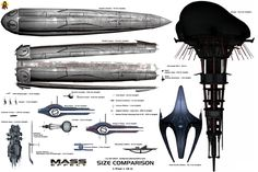 Mass Effect Stations/Big Ships Size Comparison by Euderion on DeviantArt