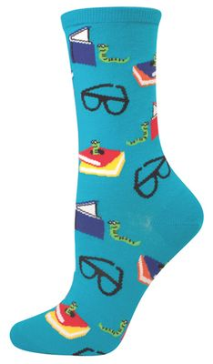 Bookworm Socks (Buy at Sock Monster) NEED these! My two favourite things - books and socks