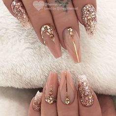 2019 Hot Fashion Coffin Nail Trend Ideas Check more at beauty.weddingrin… 2019 Hot Fashion Coffin Nail Trend Ideas Check more at beauty. Glam Nails, Bling Nails, Beauty Nails, My Nails, Bling Wedding Nails, Bling Nail Art, Rhinestone Nails, Cute Acrylic Nails, Cute Nails