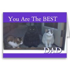 Shop Happy Father's Day the From Cats Card created by CherishNow. Father's Day Greeting Cards, Personalized Greeting Cards, Greeting Card Template, Cat Cards, Custom Greeting Cards, Thanksgiving Cards, Holiday Cards, Christmas Cards, Memorial Day Holiday