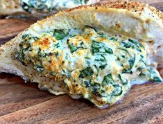 Easy, Low-Carb Keto Spinach Cream Cheese Stuffed Chicken is a quick and healthy dinner recipe loaded with boneless, skinless chicken breasts. Healthy Dinner Recipes, Low Carb Recipes, Diet Recipes, Chicken Recipes, Cooking Recipes, Healthy Food, Keto Chicken, Healthy Eating, Keto Foods