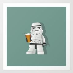 Time for Another Beer Art Print by Lucy Olver