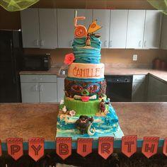 5 Layers Of MoanaCake For 5yo Birthday Party