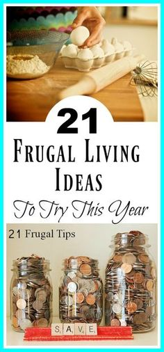 21 Frugal Living Tips To Try This Year - Lots of great ideas here that you may not of thought of ! 21 practical frugal ideas to try this year. | Living on a budget, monthly budget, debt free, personal finance, money saving tips