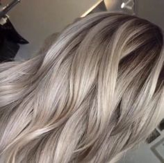 Dark base ash blonde