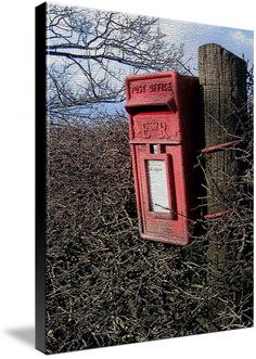 Royal Postbox by Tammy Winand shown as canvas print, also available as framed  poster or small photo print #imagekind #photography #England