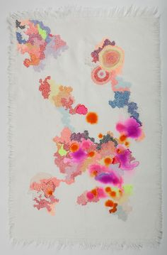 Painting Embroidery 3 by Sabatina Leccia
