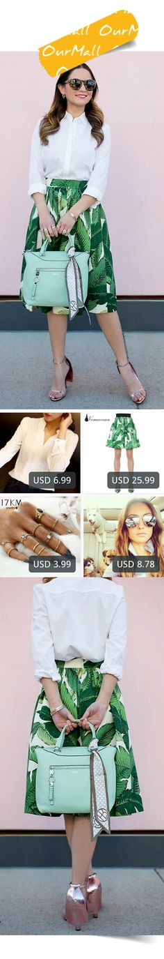 This is Jenn Lake's buyer show in OurMall; totally wearing four items below: 1.Chiffon Shirt Blouse Ladies White Pink Elegant Sexy Vneck Long Sleeve Shirts Female Office 2.COTTON POPLIN FLARED SKIRT Elegant Floral Pattern Elastic Waist Women Skirt 2017 Spring 3./ sets Fashion...If you'd like to buy above, please click the picture for detail. http://ourmall.com/?7vIjQf