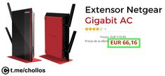Extensor Wifi Netgear EX6200 disponible por 66 - http://ift.tt/2uLn9xV