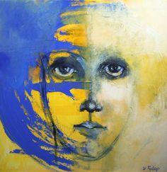 """Saatchi Online Artist: Valeria Fulop; Acrylic, 2010, Painting """"Hidden Beauty"""""""
