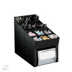 Dispense-Rite NLO-SWNH 10 Compartment Napkin/Flatware Dispenser & Condiment Organizer by Dispense-Rite. $170.00. This 10 Compartment Napkin/Flatware Dispenser & Condiment Organizer ( NLO-SWNH) is brought to you by Dispense-Rite. The NLO-SWNH features durable polystyrene construction and offers an easy way to organize condiments and silverware for all your dispense station needs. Some compartments have removable dividers for custom configuration, and the silverware inserts are rem...