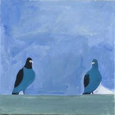 Pigeons by Elric Ringstad Buy Art Online, Animal Paintings, Pigeon, Home Art, Playroom, Landscape, Artwork, Animals, House