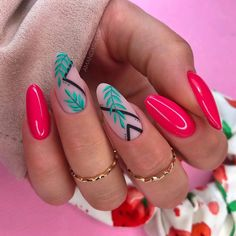 Classy Acrylic Nails, Almond Acrylic Nails, Summer Acrylic Nails, Best Acrylic Nails, Classy Nails, Stylish Nails, Dream Nails, Love Nails, Pretty Nails