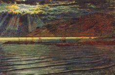 Fishingboats+by+Moonlight+-+William+Holman+Hunt