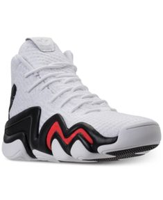 adidas Men s Crazy 8 Adv Circular Knit Basketball Sneakers from Finish Line  - White 12 Basketball da62fff12