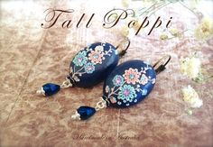 polymer clay sapphire | SAPPHIRE DREAM Hand crafted polymer clay earrings par TallPoppi, $49 ...