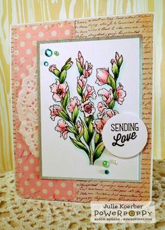 "Out To Impress: Power Poppy Day 3: So ""Glad"" You Stopped By!  Stamps by Power Poppy, Card Design by Julie Koerber"