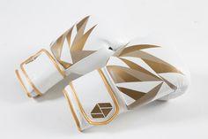 Bia Boxing Gloves white/gold