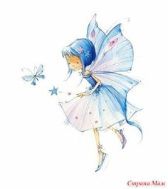 Leading Illustration & Publishing Agency based in London, New York & Marbella. Cute Images, Cute Pictures, Elfen Tattoo, Art Mignon, Fairy Art, Faeries, Cute Drawings, Cute Art, Decoupage