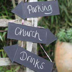 10 wedding decorations no reception should be without - Blackboard arrow signs, £8 each