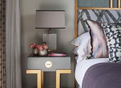 More modern lovely bedroom palette from hgdstudio
