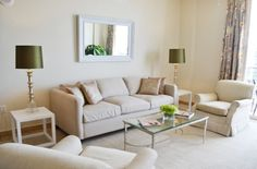 Dwell with Dignity » Miami Satellite Project Neutral living room design.