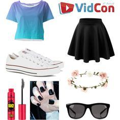 vidcon 2015 by sleeping-lemon on Polyvore featuring Converse, Cheap Monday and Accessorize