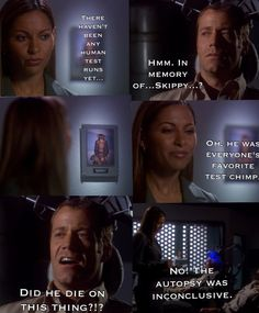 """Eureka 1x06 """"Dr. Nobel"""" - I especially like how she doesn't look at him with the last line"""
