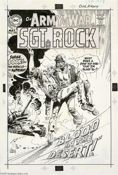 Original Comic Art:Covers, Joe Kubert - Our Army at War #193 Cover Original Art (DC,1968).Sgt. Rock was the ultimate WWII topkick -- ready to fight in... (3items) Image #1