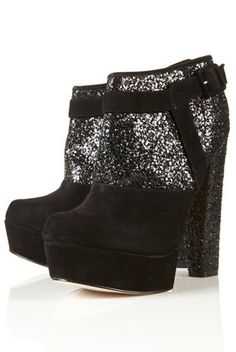 Topshop suede/glitter booties... perfect for NYE on the Champs-Élysées, non?