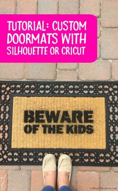 Coir Doormats - A Profitable Spring Silhouette Cameo or Cricut Explore Product - by cuttingforbusiness.com