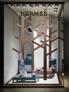 Wandering forest of hermès window display design, shop window displays, store displays, display Window Display Design, Shop Window Displays, Store Displays, Display Windows, Retail Windows, Store Windows, Visual Merchandising, Marketing Visual, Hermes Window