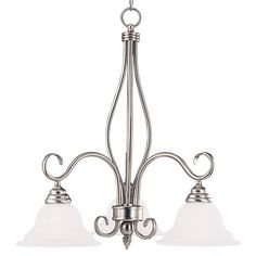Illumine 3-Light Pewter Chandelier with White Faux Alabaster Glass Shades-CLI-SH202852046 - The Home Depot