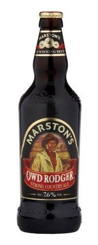 Cerveja Marston's Owd Rodger, estilo Strong Scotch Ale, produzida por Marston's Beer Company, Inglaterra. 7.6% ABV de álcool.