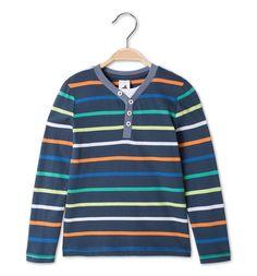Shirt in 2-in-1-look met lange mouwen in donkerblauw 110 €7.5
