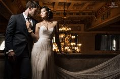 Gorgeous Kaylen Dao & handsome Todd Hunter. A glamorous bridal shoot at The Hollywood Roosevelt Hotel.  Photo by Los Angeles wedding photographer Tomas Skaringa www.thebigaffair.com Makeup by Agne and hair by Anjeza at www.beautyaffair.net Jewelry : Stephanie Browne (Australia) Assistant : Ozgur Goral Roosevelt manager : Callie Laquidara  #bridal #bride #bridaleditorial #wedding #weddingphotographer #weddingphotography #roosevelthotel #rooseveltwedding #stephaniebrowne #Hollywoodglamor