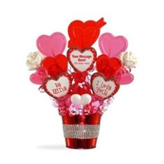 Personalized Valentine's Day Candy Bouquet Heart of Hearts Lollipop