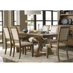 Town & Country Formal Dining Trestle Table by Liberty Furniture