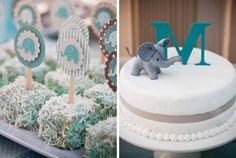 love the little elephant illustrations and cake topper!