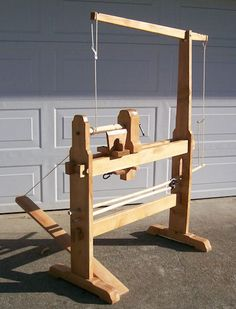 Foot-powered treadle spring-pole lathe with overhead arm and spring-pole… Green Woodworking, Woodworking Lathe, Woodworking Projects, Woodworking Supplies, Furniture Projects, Wood Projects, Woodturning Tools, Homemade Tools, Old Tools