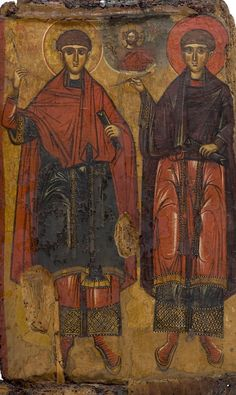 The Saints Anargyri Kosmas and Damianos Type: Portable images Floor: floor Dating: A half of the century. Dimensions: Construction materials: Wood, Pigments Origin: Veria, Holy Church of Agios Dimitrios Portable Image, Greek Icons, Ancient Jewelry, Viking Jewelry, 17th Century Art, Viking Ship, Religious Icons, Luxor Egypt, Orthodox Icons