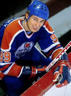 Wayne Gretzky, way back in the day with Edmonton.  This is when I fell in love with hockey.