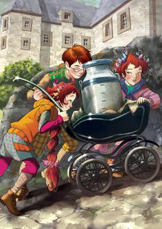 The Children of Fairy Oak. There are lots of members, of all ages, some are Magicals, others not; some are likeable, others less so, but all together they make up a super, united group.