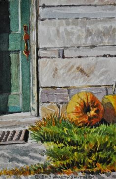 2013 Pumpkin #3, painting by artist Andy Smith