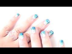 EASY Gradient Ocean Glitter Nail Tutorial