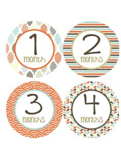 Baby Month Stickers Baby Monthly Onesie by getthepartystarted, $12.00 more baby shower gift ideas at  http://www.etsy.com/shop/getthepartystarted?section_id=6771147