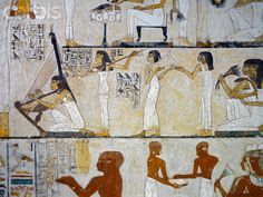 Painting of women musicians from the Tomb of Rekhmire