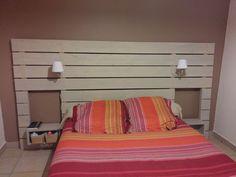 Tete de lit en bois récup