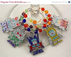 Transformers inspired geeky wine glass charms set of 5 by TheWarpZoneStore, $12.74