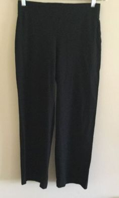 Eileen Fisher Women's Black Slim Leg Stretch Knit Pants Size Small Petite PP | eBay